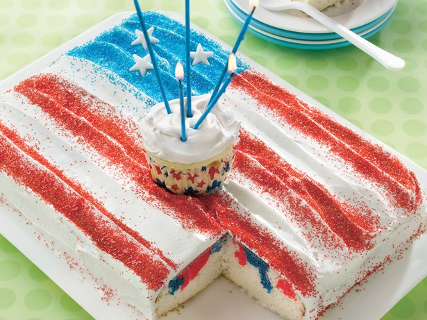 Sparkling Fourth of July Cake