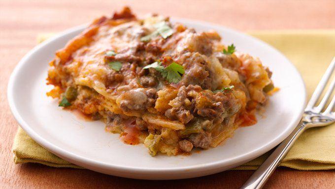 Slow-Cooker Layered Enchilada Dinner recipe - from Tablespoon!