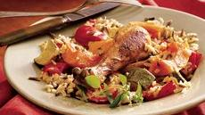 Baked Chicken and Rice with Autumn Vegetables Recipe