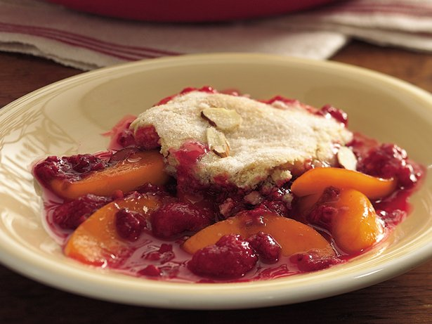 Peach Melba Cobbler