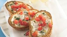 Garlic Cream Cheese Crostini Recipe