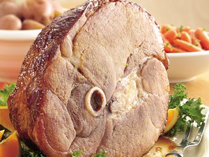 Baked&#32;Ham&#32;with&#32;Brown&#32;Sugar-Orange&#32;Glaze