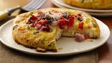 Ham and Eggs Frittata Biscuits Recipe