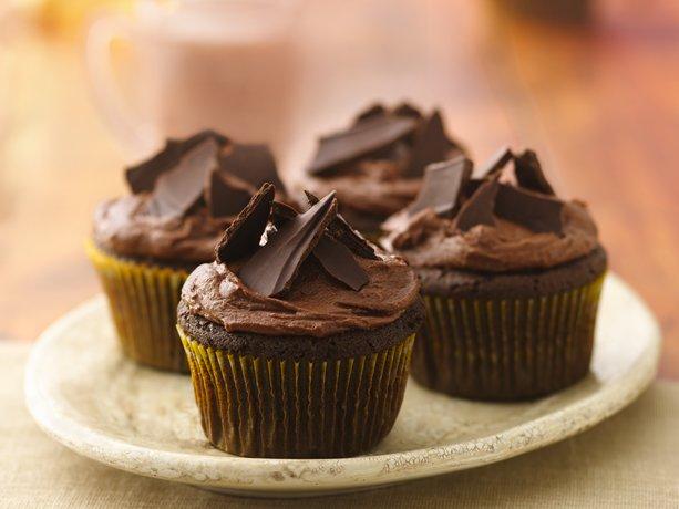 Aztec Chile-Chocolate Cupcakes