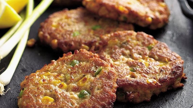 Salmon and Corn Cakes
