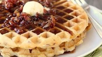 All-In-One Bacon & Cheddar Waffles