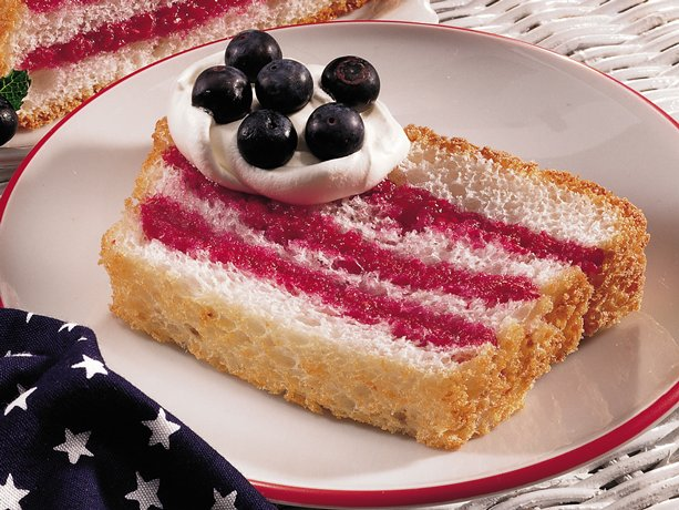 Image of Angel Food Flag Cake, Betty Crocker