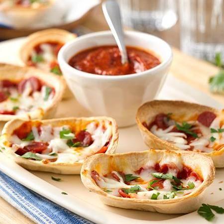 mini pepperoni pizza boats