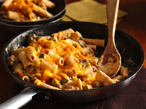 Cheesy Barbecue Beef Rigatoni