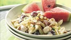 Pasta-Chicken Salad on Watermelon Wedges Recipe