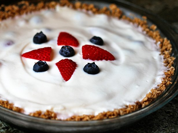 Very Berry Yogurt Pie with Cheerios Crust
