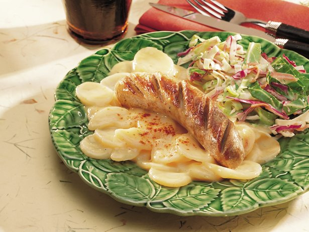 German Potato Salad with Brats