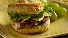 Turkey Brie Biscuit Sandwiches Recipe