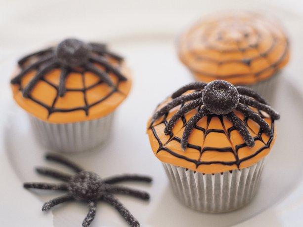 Spiderweb miedo Cupcakes