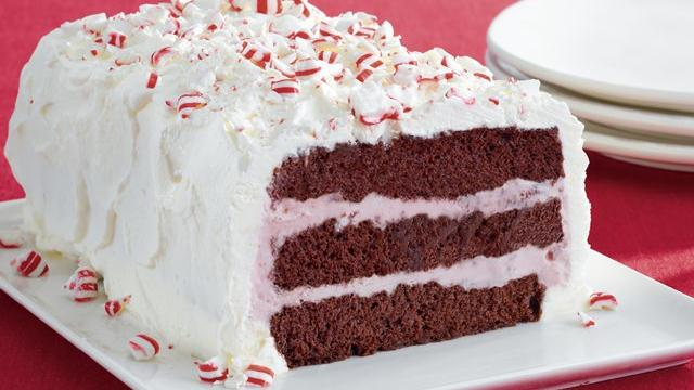 Peppermint Ice Cream Cakes