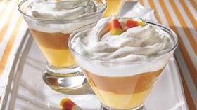 Creamy Candy Corn Puddings