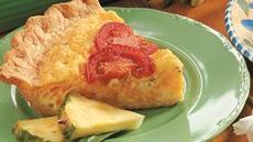 Three-Cheese and Egg Crescent Pie Recipe