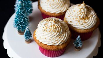 Eggnog Cupcakes with Whipped Eggnog Buttercream