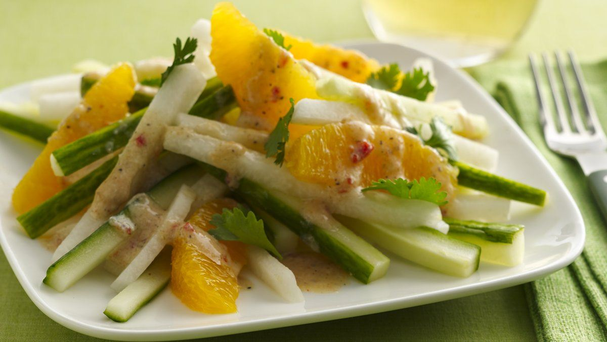 Spicy Jicama and Orange Salad (Gluten Free)