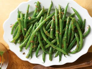 Green Beans with Glazed Shallots in Lemon-Dill Butter