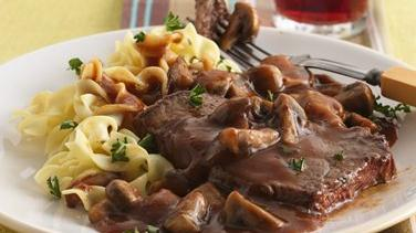 Beef with Burgundy Mushrooms