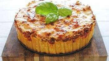 Rigatoni Pasta Pie (Chicken Version)