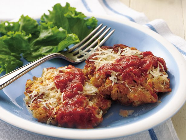 Chicken Cakes Parmigiana
