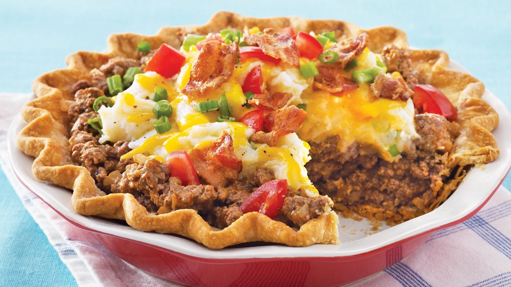 Ground Beef and Twice-Baked Potato Pie recipe from ...