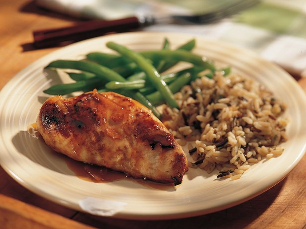 Chicken Breasts with Orange Glaze for Two