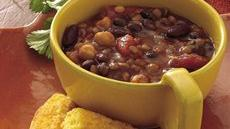Slow Cooker Three-Bean Chili Recipe