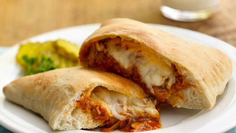 Barbecued Chicken Calzones
