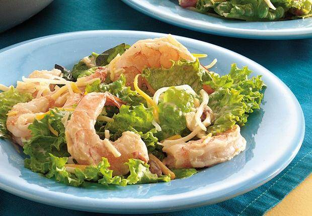 Southwestern dip and salsa toss playfully with shrimp in this taco ...