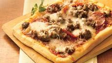 Double-Meat Personal Pizzas Recipe