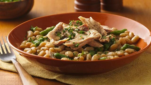Slow Cooker Tuscan Turkey and Beans