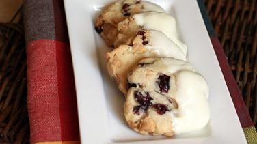 White Chocolate-Cranberry Sugar Cookies