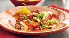 Green Chile-Turkey Enchiladas Recipe