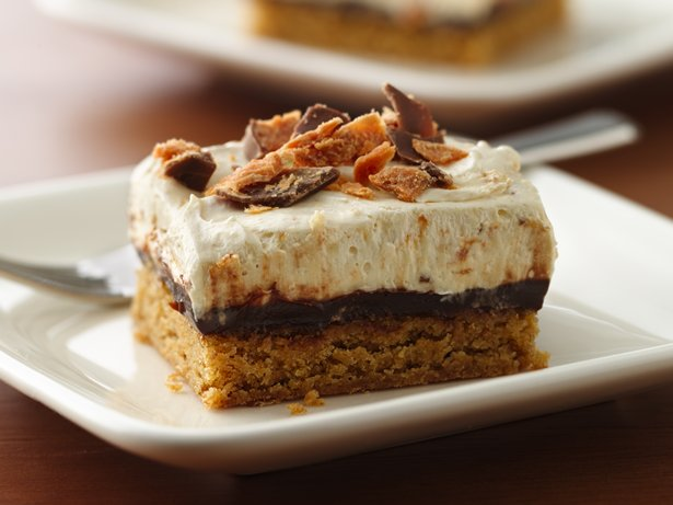 Peanut-Buttery Fudge Bars
