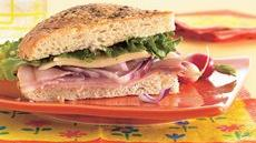 Ham and Mozzarella Sandwich Wedges Recipe