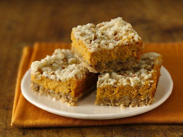 Pumpkin Streusel Cheesecake Bars (Gluten Free)