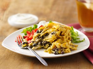 Slow-Cooker Green Chile-Chicken Enchilada Casserole