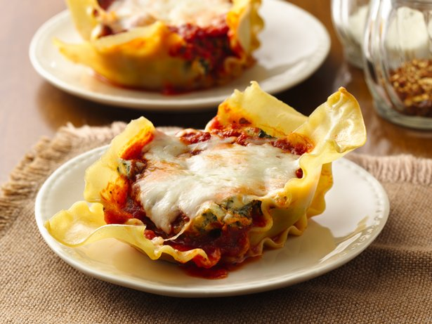 Spinach Lasagna Cupcakes