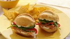 Turkey and Spinach Sandwiches  Recipe