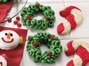 Cereal Holly Wreaths