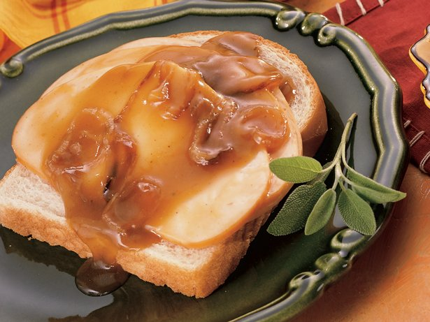 Hot Turkey and Gravy Open-Faced Sandwiches