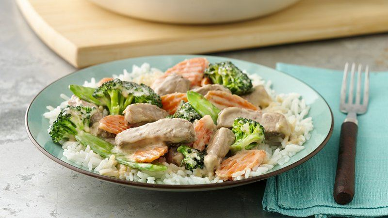 Creamy Asian Pork and Vegetable Stir-Fry