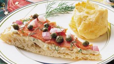Smoked Salmon and Caper Pizza