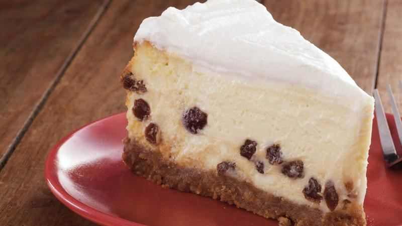 Sour Cream-Rum Raisin Cheesecake