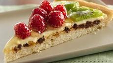 Raspberry-Kiwi Dessert Pizza Recipe