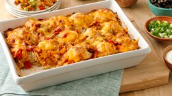 Impossibly Easy Salsa Chicken Bake