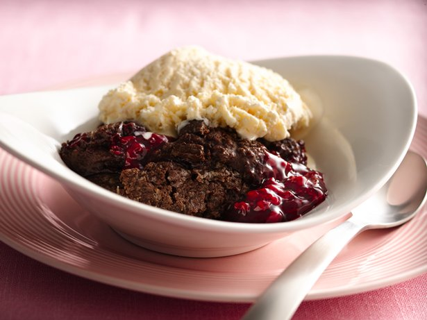 Chocolate Raspberry Cobbler recipe from Betty Crocker